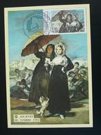 Carte Maximum Card La Lettre D'amour De Goya Journée Du Timbre Gap 05 Hautes Alpes 1981 - Sonstige