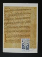 Carte Maximum Card Traité D'Andelot Moyen Age Middle Age Medieval 52 Haute Marne 1987 - 1980-89