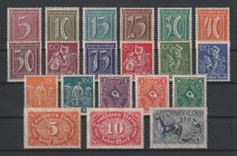 GERMANY REICH 1921 Mi 158/196 MIXED WATERMARK MNH ** - Nuevos