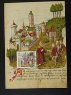 Carte Maximum Card Moyen Age Middle Age Medieval History Suisse Pro Patria 1989 - Cartes-Maximum (CM)