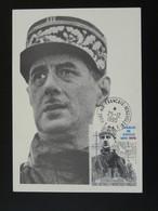 Carte Maximum Card Papillon Général De Gaulle TAAF 1990 - De Gaulle (General)