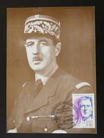 Carte Maximum Card General De Gaulle Apt Armées 84 Vaucluse 1990 - De Gaulle (Generaal)