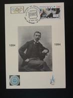 Carte Maximum Card Pierre De Coubertin Centenaire Du CIO Centenary Of IOC 92 Puteaux 1994 (cachet 1) - Other