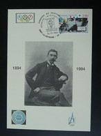 Carte Maximum Card Pierre De Coubertin Centenaire Du CIO Centenary Of IOC 92 Puteaux 1994 (cachet 3) - Other