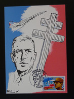 Carte Maximum Card Général De Gaulle Bourges 18 Cher 1995 - De Gaulle (Général)