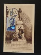 Carte Maximum Card Statue De Louis Pasteur Dole 39 Jura 1995 - Louis Pasteur