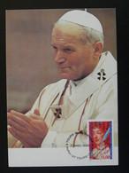 Carte Commemorative Card Visite Du Pape Jean-Paul II Pope John-Paul II Tours 37 Indre Et Loire Europa 1996 - Päpste