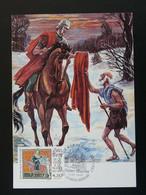 Carte Maximum Card Cheval Horse Saint-Martin Medieval St-Martin Lacaussade 33 Gironde 1997 - 1990-99
