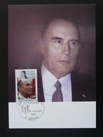 Carte Maximum Card Président François Mitterrand Jarnac 16 Charente 1997 - 1990-99