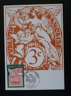 Carte Maximum Card Type Blanc Journée Du Timbre Paris 1998 (timbre De Feuille) - 1990-99