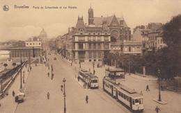 (188)  CPA  Bruxelles  Porte De Schaerbeek Et Rue Royale  (bon état) - Avenidas, Bulevares