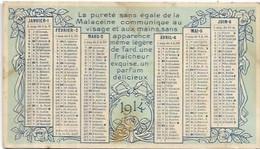 CALENDRIERS.  AN 1914.  .  DIM  120 X 70 - Small : 1901-20