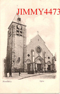 CPA - MONTLHERY - Eglise ( Parvis Bien Animé ) 91 Essonne - N°1609 - Edit. Trianon - P. M. Phot. - Montlhery