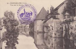 PONTARLIER (Doubs): Vue Sur Le Canal (tampon Contrôle Postal) - Pontarlier