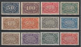 GERMANY REICH 1922 WEIMAR Mi 246-257 MNH ** FULL SET - Nuevos