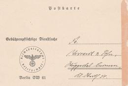 Deutsches Reich Firmenkarte Reichspatentamt Berlin SW 61 1942 - Briefe U. Dokumente