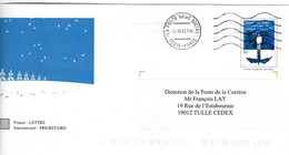 Flamme Sur PAP Interne Voeux 2003 75015 PARIS LA POSTE SIEGE SOCIAL OMEC MEGRAS Muette - Mechanical Postmarks (Advertisement)
