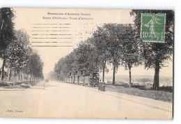 CPA 92 Antony La Route D'Orleans Et Le Train Tramway - Antony