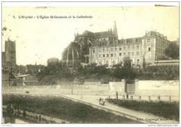 Auxerre. L'hopital, L'eglise Saint Germain Et La Cathedrale. - Auxerre
