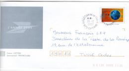 Cachet Manuel Sur PAP Interne Voeux 2003 CAYENNE DIRECTION Départementale De La Poste Guyanne Française - Cachets Manuels