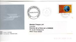 Cachet Manuel Sur PAP Interne Voeux 2003 GUADELOUPE DIRECTION Départementale De La Poste BASSE TERRE - Cachets Manuels