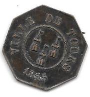 *token Ville De Tours Viande 1855 - Other