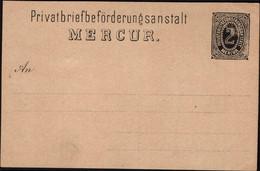 Germany 1886 - Privatpost Heildenberg (MiNr. P1), 2 Pfenning Privatbriefbeförderungsanstalt Mercur. - Private