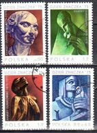 Poland 1975 - Stamp Day. Xawery Dunikowski - Mi 2409-12 - Used - Usados