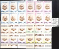 D - [107603]TB//**/Mnh-c:24e-Zaïre 1980 - N° 978/83-YV, Bd6 Avec 'EINSTEIN' Sur Bdf, Célébrité, Sciences, Physique - 1980-89: Mint/hinged