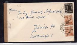 16MRC146 - BERLINO GERMANIA , Censored Per La Svizzera  Da PLESS 10/12/1948 - Storia Postale