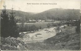 "20 037 Ak Bahnhof Scharzfeld Bahnpost ""NORDHAUSEN-OTTBERGEN"" 1908 - Cartas"