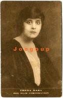 Postcard Fox USA Silent Film Actress Theda Bara Sello Metropol Cine Theatre Y Apolo Buenos Aires Argentina - Actors