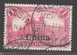Deutsche Auslandspostämter China Michel Nummer 24 Gestempelt Geprüft - Kantoren In China