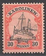 Deutsche Kolonien Karolinen Michel Nummer 12 Ungebraucht Falz - Colony: Caroline Islands
