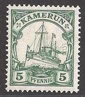 Deutsche Kolonien Kamerun Michel Nummer 21 Ungebraucht Falz - Colony: Cameroun