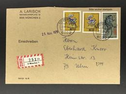 Bund Wertbrief - München Grünwald Nach Ulm 1978 - Unclassified