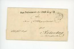 Vorphilatelie Dienstbrief Polizeiamt Leipzig An Magistrat Von Rodenberg 1857 - [1] Prephilately