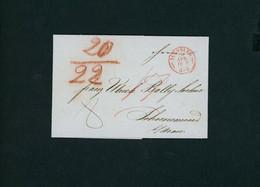 Vorphilatelie Brief 1849 Augsburg In Die Schweiz , Rückseitig Stempel Zürich - Unclassified