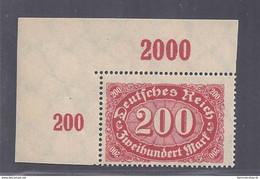 Deutsches Reich Michel Nummer 248c Ecke Links Geprüft Postfrisch - Ongebruikt