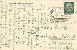 "20 047 Ak Bernburg Bahnpost ""BERLIN-FRANKFURT(MAIN)"" 1936 - Covers & Documents"
