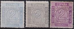1872 Edifil 116 Cifras 2c. 3 Variedades - Nuevos