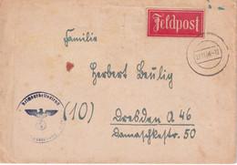 ALLEMAGNE 1944 LETTRE EN FELDPOST - Cartas