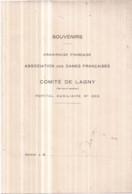 Dépt 77 Croix Rouge Comité De LAGNY Hôpital Auxiliaire N° 202 Carnet à Remplir Env. 200 P. Dont Répertoire 1 Page écrite - Lagny Sur Marne