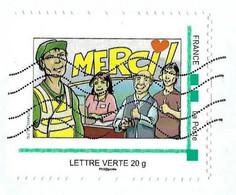 France  (2020)  MonTimbraMoi MTM : COVID Merci Aux Soignants Et Aux Aidants. Éboueurs. - Gepersonaliseerde Postzegels (MonTimbraMoi)