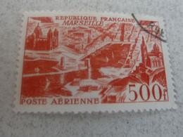 Marseille - Vue Stylisée - 500f. - Rouge - Poste Aérienne - Oblitéré - Année 1949 - - Used Stamps