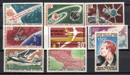 W-9 Sénégal PA Année Complète 1966 N° 49 à 57 **  A Saisir !!! - Senegal (1960-...)