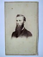 Photographie CDV USA - Portrait Homme Très Longue Barbe - Autographe -  Detroit -- Circa 1860/65 - BE - Alte (vor 1900)