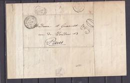 1859 OBL PERLE LA VILLEDIEU DU CLAIN VIENNE - 1801-1848: Precursors XIX