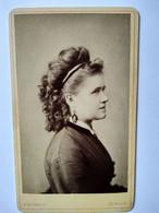 Photographie CDV Portrait De Jeune Femme De Profil - Coiffure - Photo Schmidt, Ansbach  - 1875/80 - Alte (vor 1900)