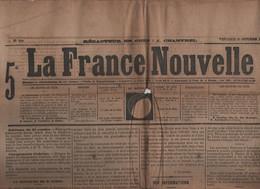 LA FRANCE NOUVELLE 27 10 1876 - JULES SIMON UNIVERSITE CATHOLIQUE LILLE - NUEIL S/ ARGENT LA ROCHEJAQUELEIN - TURQUIE - - 1850 - 1899
